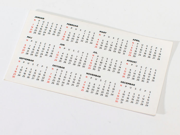 dzepni kalendar
