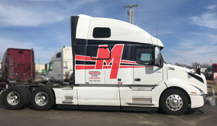 stavljanje firme na kamion