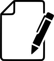 ikonica papir sa hemijskom olovkom