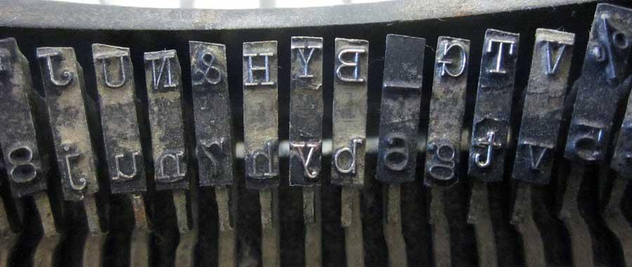 kucaća mašina slova štampa