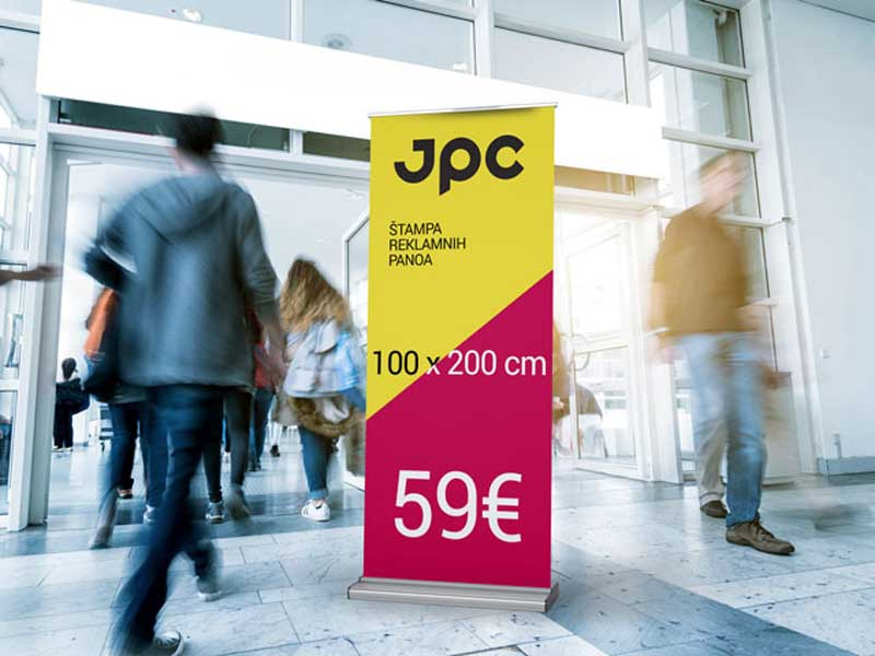 Roll up banner 100x200cm