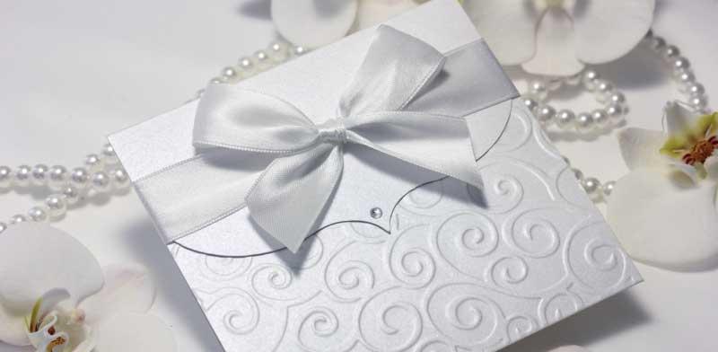 Pozivnice za venčanje sa mašnom