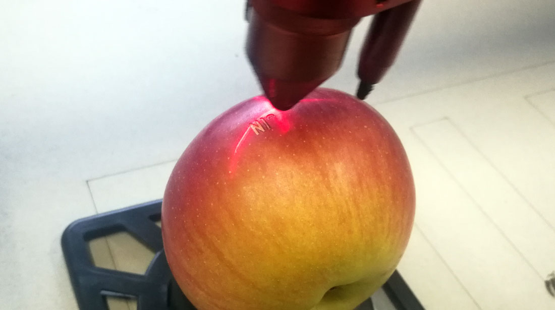 laserski gravirana jabuka