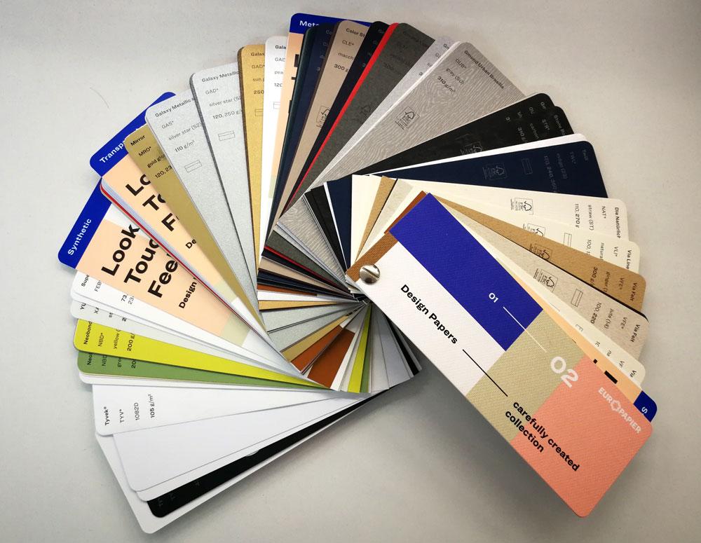 paleta boja papira za stampanje